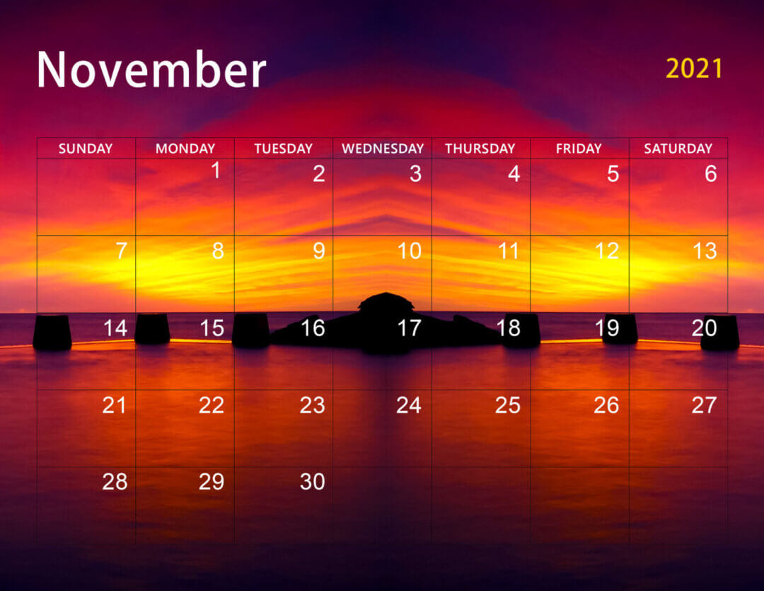 Cute November 2021 Calendar Wallpaper