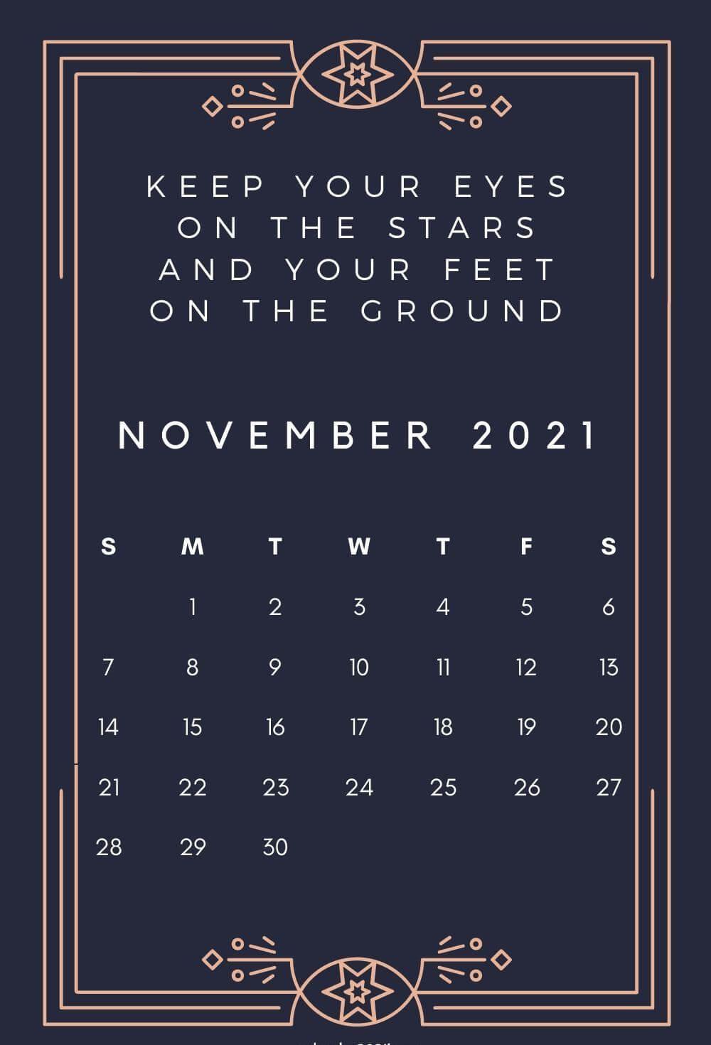Inspiring November 2021 Calendar