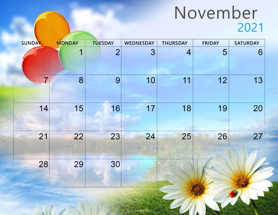 November 2021 Calendar Wallpaper for Desktop