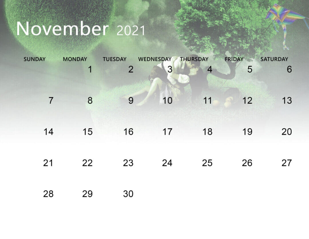 November 2021 Calendar Wallpaper for Laptop