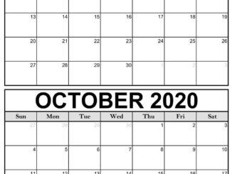 September Oktober 2020 Kalender