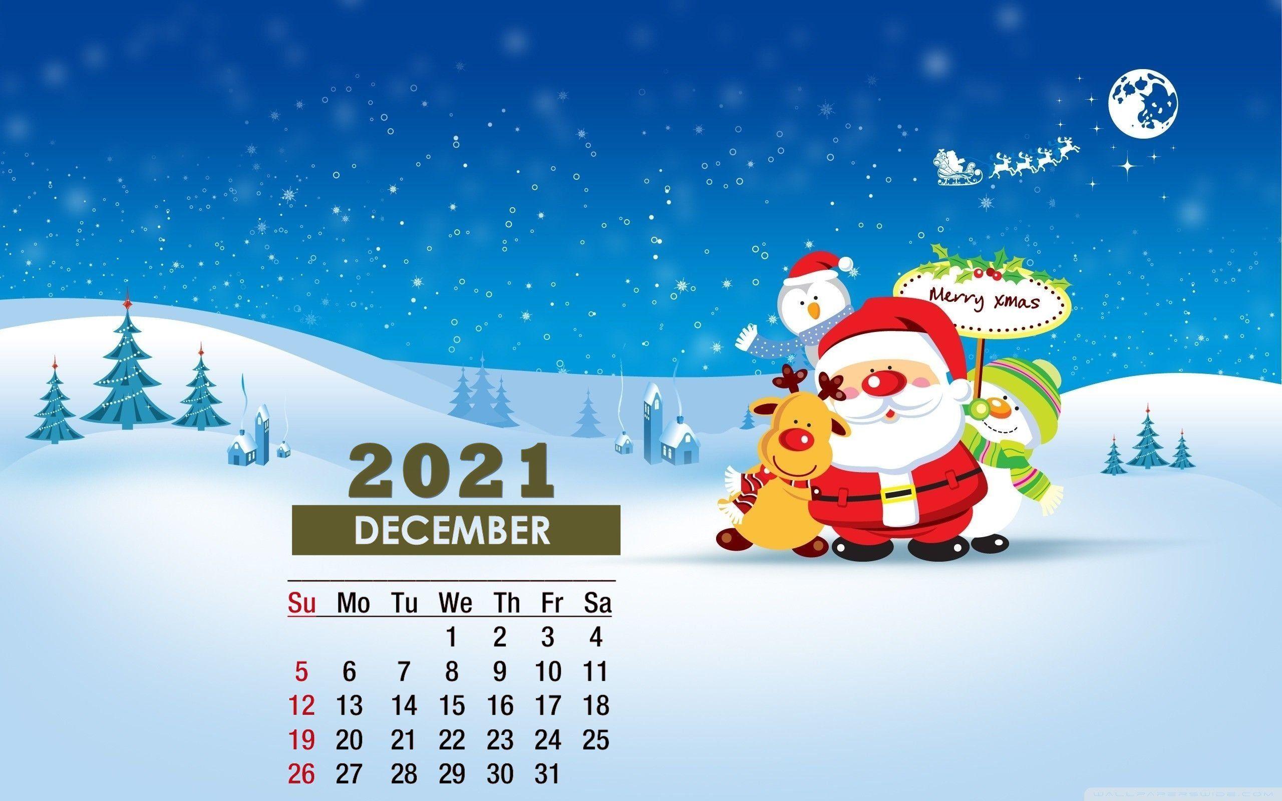 December 2021 Calendar Wallpaper For Desktop
