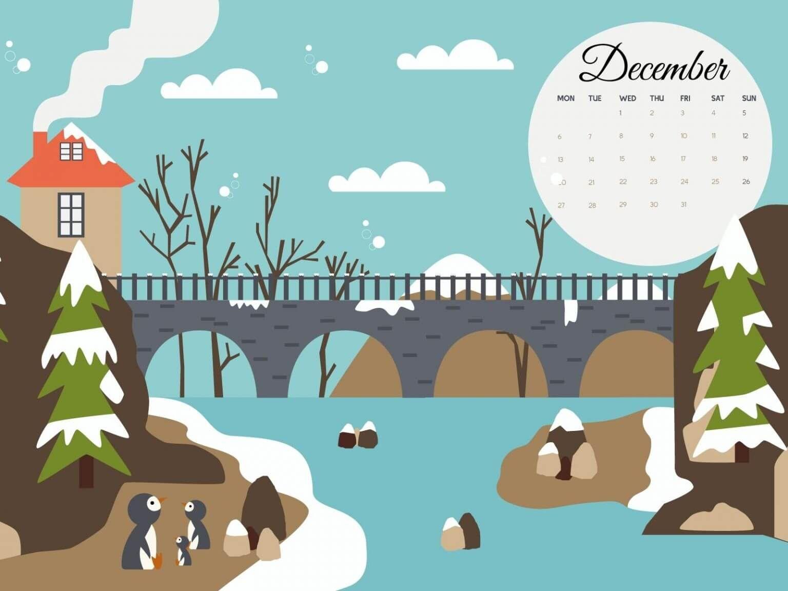 December 2021 Calendar Wallpaper For Laptop
