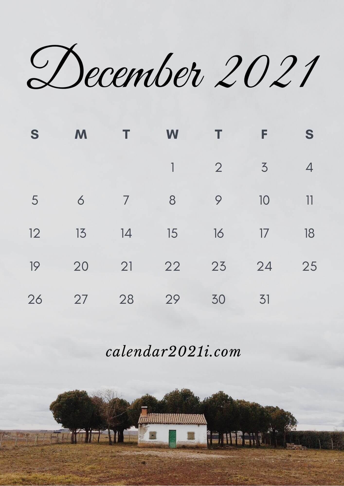December 2021 Calendar Wallpaper