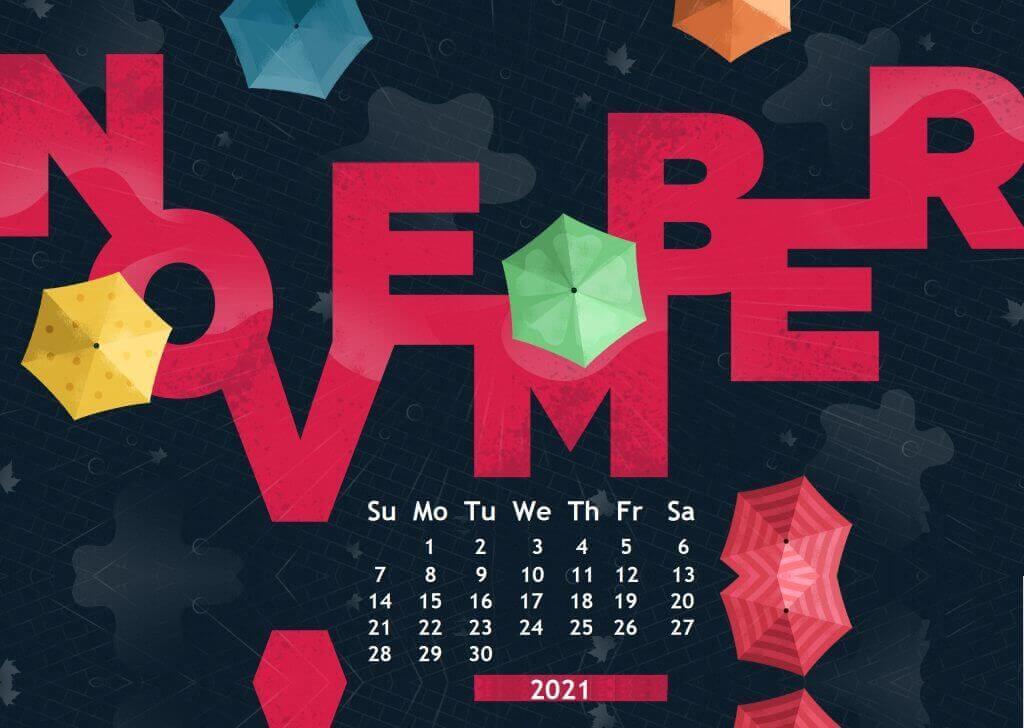 November 2021 Calendar Wallpaper