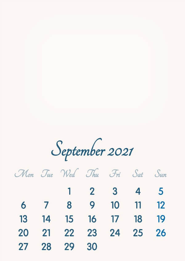 September 2021 Calendar Wallpaper