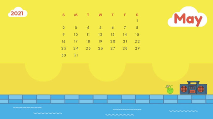 May 2021 Calendar Wallpaper for Desktop